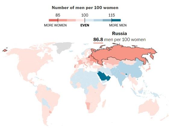 Những bất ngờ thú vị từ bản đồ giới toàn cầu - 2