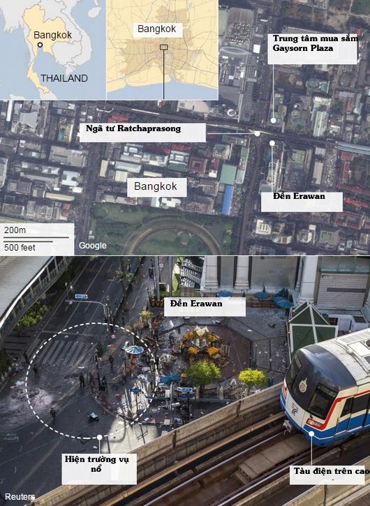 Diễn biến hành động của nghi phạm trước và sau vụ đánh bom Bangkok - 2