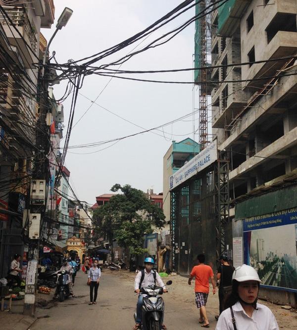 Dự án chung cư cao tầng ở đường Chính Kinh.