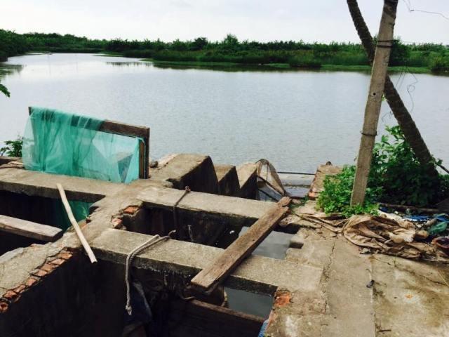 Cống Rộc, điểm tưới - tiêu điều hòa nguồn nước cho khu đầm rồng 36ha của anh em Đoàn Văn Vươn - Đoàn Văn Quý.
