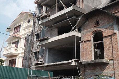 Công trình biệt thự nhà số 9 Khu nhà ở và Công trình công cộng ngang nhiên phá vỡ quy hoạch.