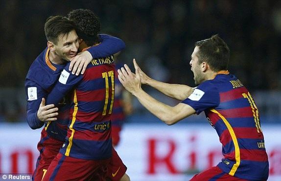 Niềm vui của các cầu thủ Barcelona