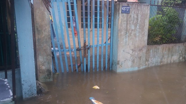Từ chiều 14/9, mưa đã gây ngập một số khu vực tại Đà Nẵng