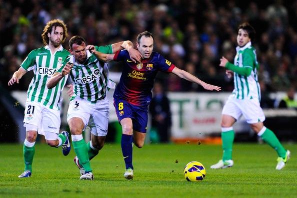 Barcelona luôn giành chiến thắng mỗi khi đối đầu Real Betis