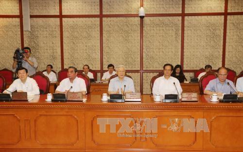 Bộ Chính trị làm việc với Ban Thường vụ Quân ủy Trung ương - 2