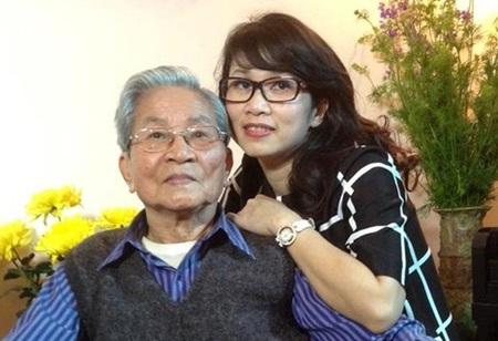 BTV Mỹ Linh và bố- NSND Đình Quang