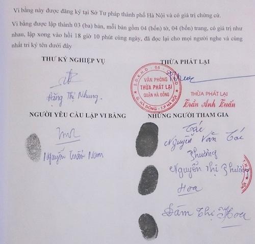 Vi bằng xác định chủ sở hữu của thửa đất số 75 là của ông Nguyễn Văn Tác và ông Tác chưa bao giờ bán thửa đất cho ai.