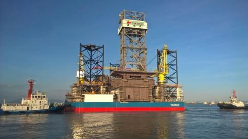 Giàn khoan tự nâng Tam Đảo 05 (120 m nước). Ảnh: PV Shipyard.com.vn