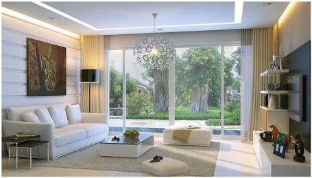 Phòng khách hiện đại và cuốn hút từ hệ thống đèn âm trần - 10