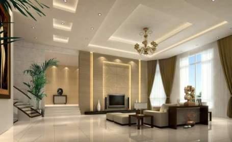 Phòng khách hiện đại và cuốn hút từ hệ thống đèn âm trần - 12