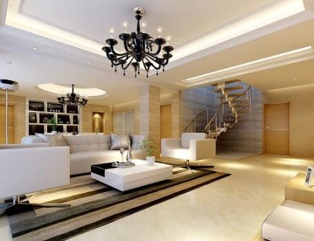 Phòng khách hiện đại và cuốn hút từ hệ thống đèn âm trần - 3