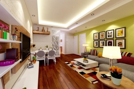 Phòng khách hiện đại và cuốn hút từ hệ thống đèn âm trần - 4