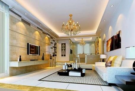 Phòng khách hiện đại và cuốn hút từ hệ thống đèn âm trần - 2