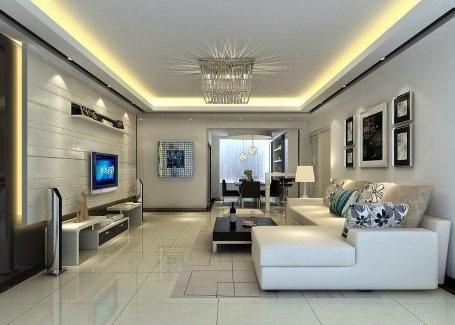 Phòng khách hiện đại và cuốn hút từ hệ thống đèn âm trần - 8