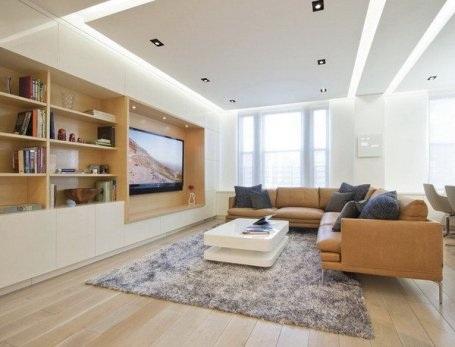 Phòng khách hiện đại và cuốn hút từ hệ thống đèn âm trần - 7