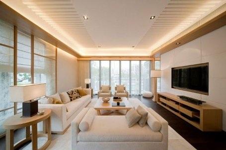 Phòng khách hiện đại và cuốn hút từ hệ thống đèn âm trần - 9