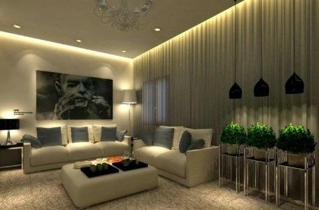 Phòng khách hiện đại và cuốn hút từ hệ thống đèn âm trần - 6