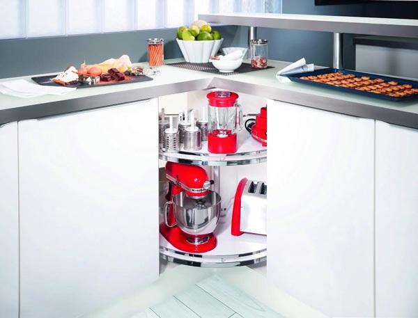 Phụ kiện cho góc tủ bếp ¾ - Revo 90o hay Carousel 2700 giúp bạn tận dụng không gian tủ bếp