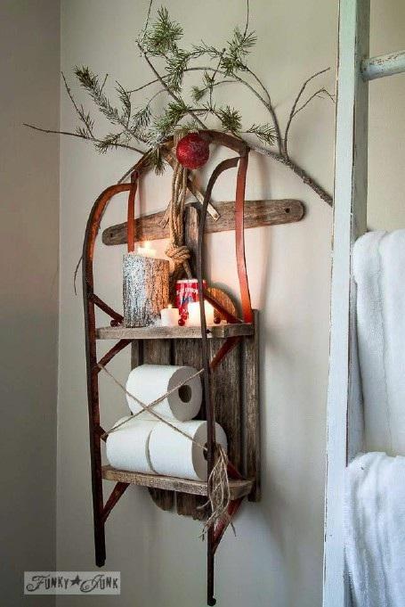 Nhà tắm vui nhộn với phong cách Giáng sinh - 3