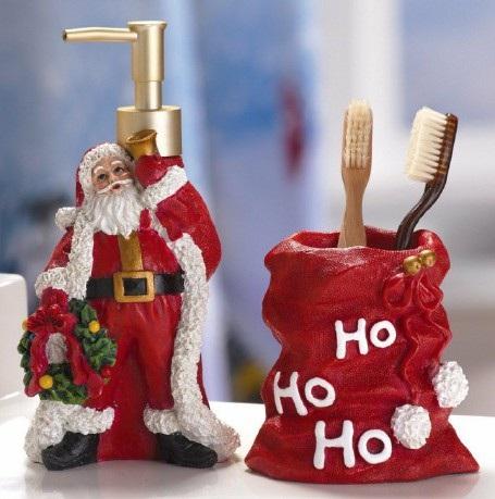 Nhà tắm vui nhộn với phong cách Giáng sinh - 8