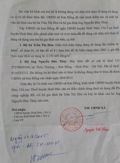 Đề nghị làm rõ khiếu nại về quản lý đất đai của người dân tại huyện Hoài Đức - 5