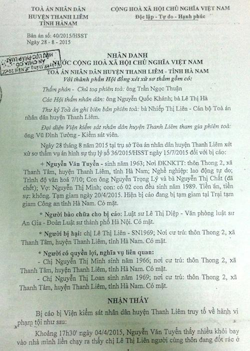 """Đề nghị xét xử công tâm vụ án """"Cố ý gây thương tích"""" tại tỉnh Hà Nam - 1"""