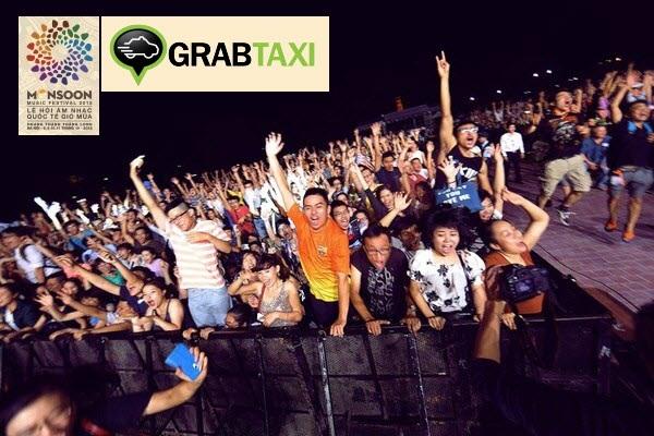 GrabTaxi tài trợ và sát cánh Monsoon 2015 trong từng hoạt động