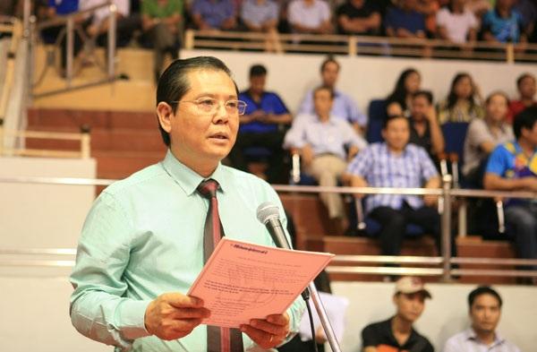 Ông Tô Quang Phán - Tổng biên tập Báo Hànộimới, đồng Trưởng BTC phát biểu tại Lễ bế mạc