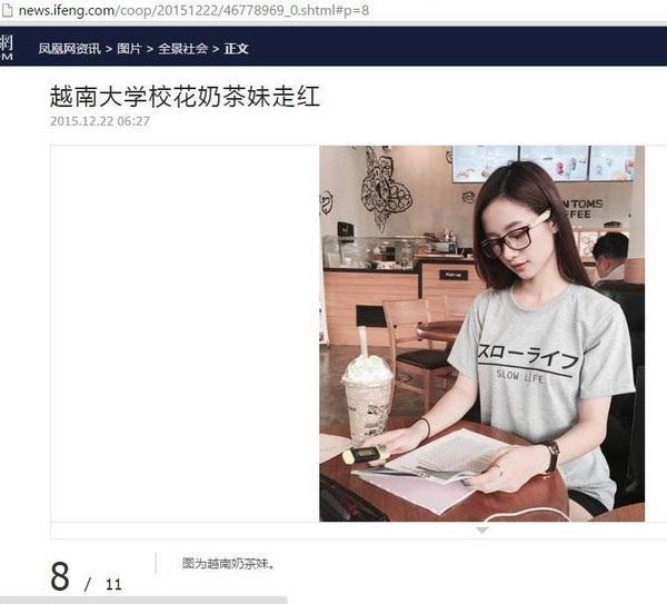 Những hình ảnh của nữ DHS Việt tại Thái Lan Vũ Phương Anh nhanh chóng gây sốt mạng Trung Quốc.