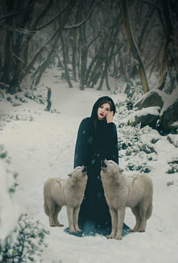 """Cuốn hút bộ ảnh """"ma sói trên núi tuyết"""" của nữ DHS Việt - 13"""