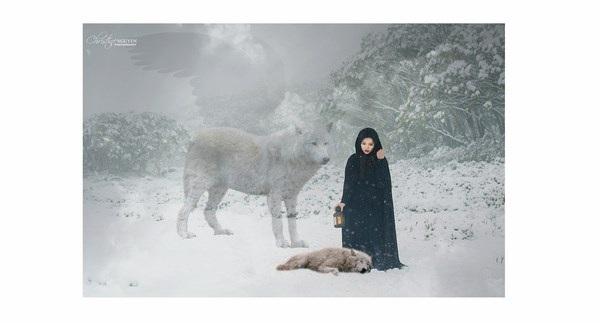 """Cuốn hút bộ ảnh """"ma sói trên núi tuyết"""" của nữ DHS Việt - 17"""