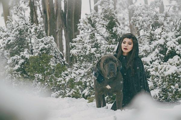 """Cuốn hút bộ ảnh """"ma sói trên núi tuyết"""" của nữ DHS Việt - 2"""