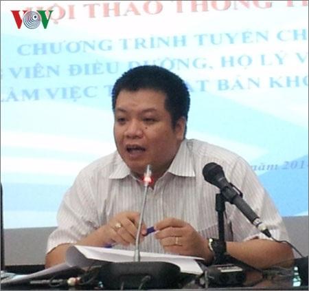Ông Tống Hải Nam, Phó cục trưởng Cục Quản lý lao động ngoài nước.