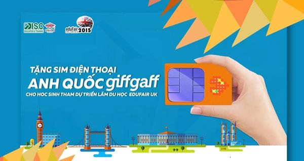Tặng sim điện thoại Anh Quốc GiffGaff cho học sinh dự Triển lãm Du học Anh Quốc eduFairUK - 1