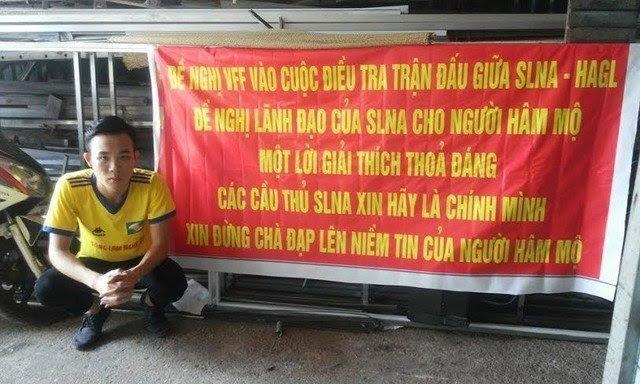 Các CĐV SL Nghệ An đã hết kiên nhẫn với đội bóng