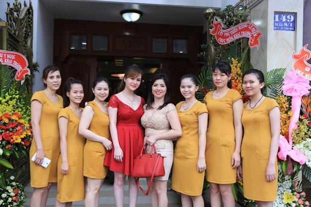 Trang Võ trong buổi khai trương Anna Spa chi nhánh Hố Nai ngày 14/09/2015