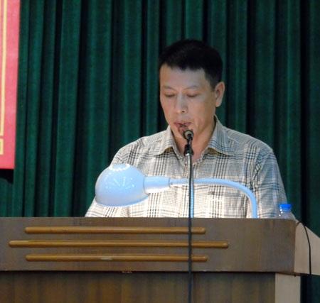 Đại diện taxi Ba Sao - ông Hoàng Minh Tâm - phát biểu tại hội thảo.