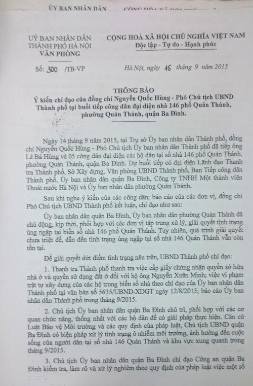 """Đi ngược lòng dân, bất chấp Phó chủ tịch chỉ đạo, quận Ba Đình """"thúc"""" xây cống mới - 1"""