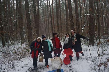Mươi ngày sau trở lại đã có thể vào rừng ở Nurnberg trượt tuyết trước khi trở về nhà đón giao thừa Tết Tây