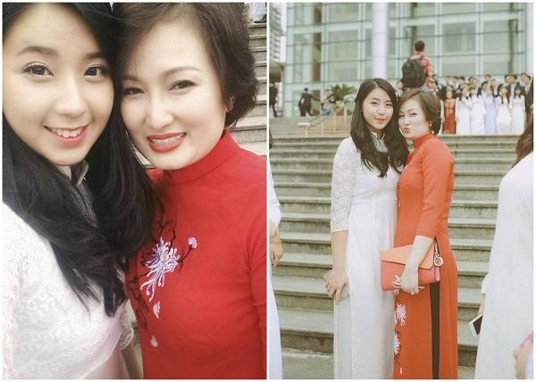 """Kim Chi và cô Oanh – người mẹ thứ hai của lớp chuyên Văn có nhiều """"công chúa"""" trường Ams."""