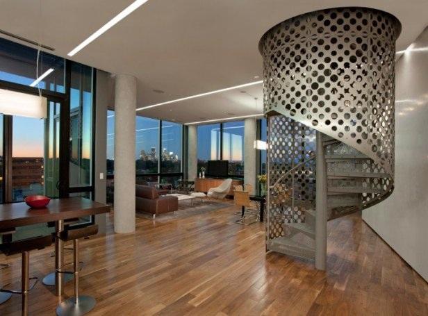 Những mẫu cầu thang xoắn ốc đẹp cho ngôi nhà có diện tích khiêm tốn - 2