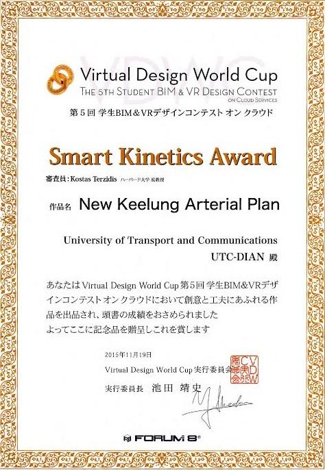 Nhóm UTC-DIAN nhận giải thưởng Smart Kinetics Award