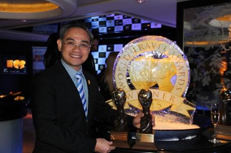 Phó Tổng Giám đốc Vietravel -Trần Đoàn Thế Duy tại Lễ trao giải thưởng Du lịch thế giới