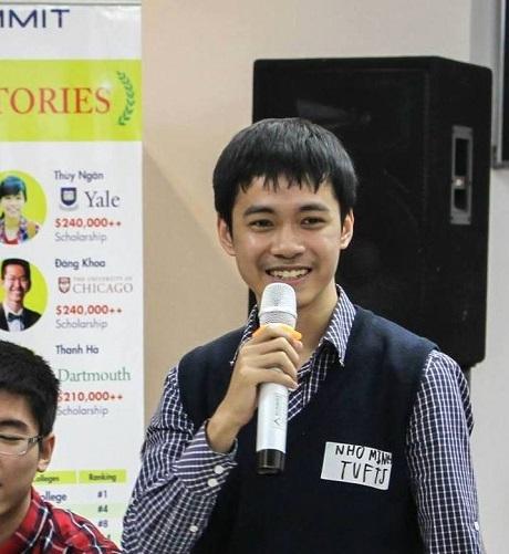 Đinh Nho Minh - SV Đại học Tuft, Mỹ.