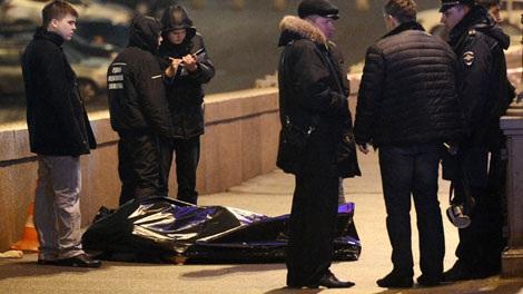 Hiện trường vụ ám sát cựu Phó Thủ tướng Boris Nemtsov.