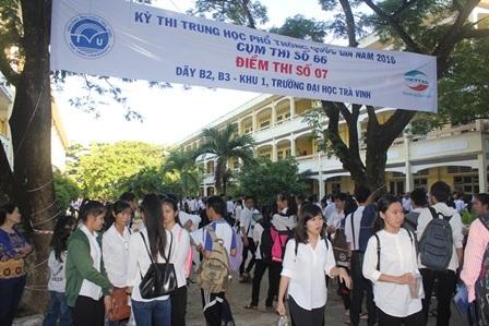 Trường Đại học Trà Vinh chính thức công bố điểm thi tốt nghiệp THPT quốc gia năm 2016. (Ảnh: Minh Giang)
