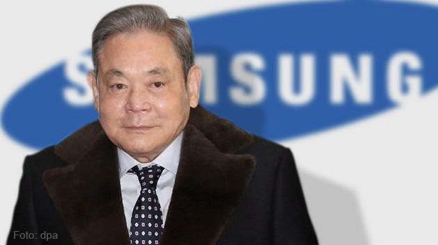 Chủ tịch Tập đoàn Samsung Lee Kun Hee, người dẫn dắt và có công lớn nhất trong việc thúc đẩy Samsung trở thành tập đoàn điện tử lớn nhất Hàn Quốc và toàn cầu.
