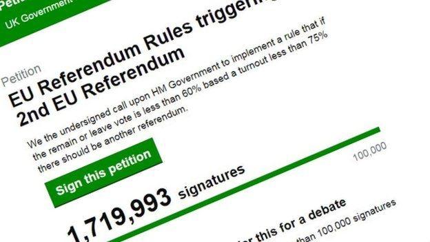 Đơn kiến nghị trên trang web của Quốc hội Anh (Ảnh: AFP)