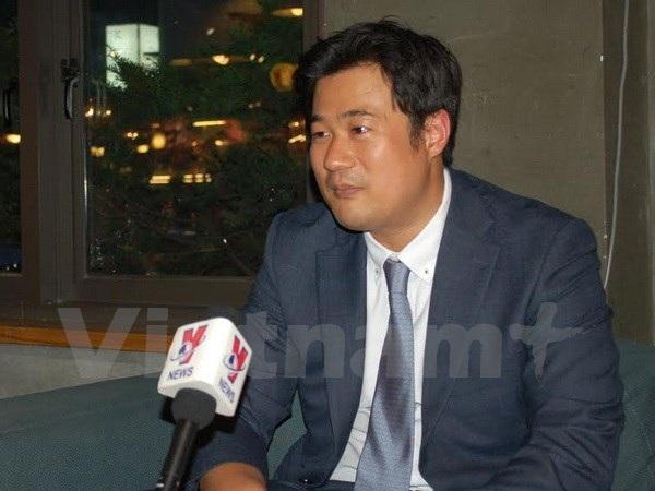 Tiến sỹ Seo In Won trả lời phỏng vấn phóng viên TTXVN tại Seoul. (Ảnh: Vũ Toàn-Phạm Duy/Vietnam+)