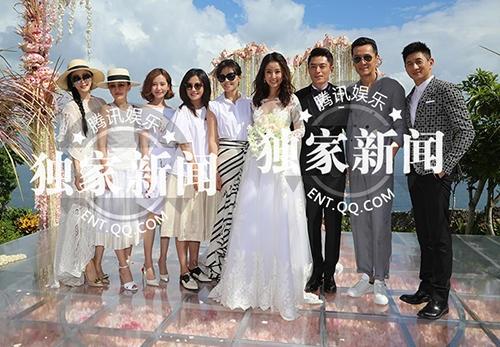 Đồng nghiệp trong làng giải trí như Triệu Vy, Lưu Thi Thi, Phạm Băng Băng, Châu Tấn... đều có mặt để chúc phúc cho vợ chồng Lâm Tâm Như - Hoắc Kiến Hoa.